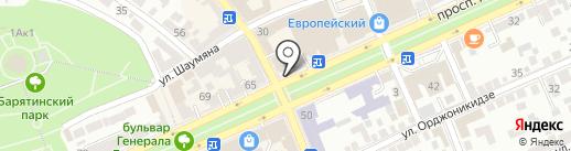 РОСПЭЙ на карте Ставрополя