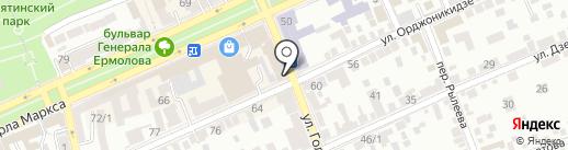 ДЮК на карте Ставрополя