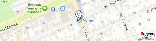 Хлебная лавка на карте Ставрополя