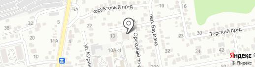 Бакалаврик на карте Ставрополя
