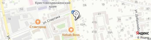Орион на карте Ставрополя