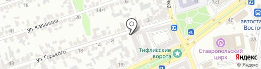 Автомойка на Горького 2а на карте Ставрополя