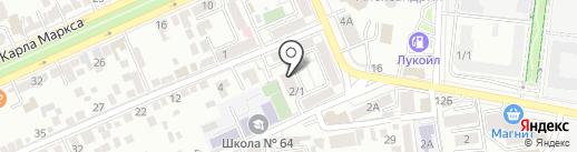 Ставропольский учебный комбинат на карте Ставрополя