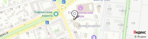 Управление Ставропольского края по строительному и жилищному надзору на карте Ставрополя