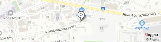 Автостекла-ЮГ на карте Ставрополя