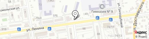 Наливайка на карте Ставрополя