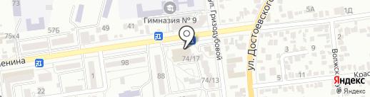 Магазин головных уборов на карте Ставрополя