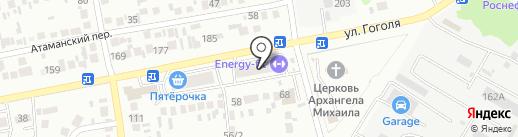 Теплоград на карте Михайловска