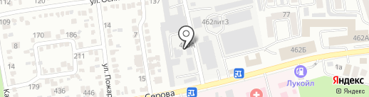 Академия вождения на карте Ставрополя