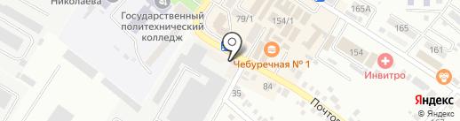 Артемида на карте Михайловска