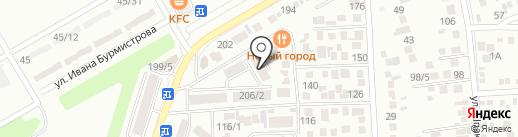 Зимняя вишня на карте Михайловска
