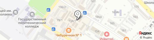 Бутон на карте Михайловска