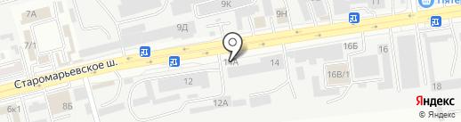 Булочная на карте Ставрополя