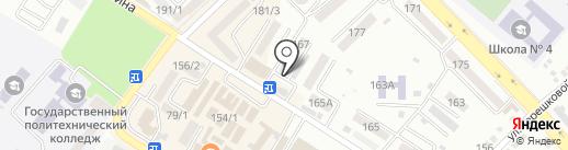 Хлебный дворик на карте Михайловска