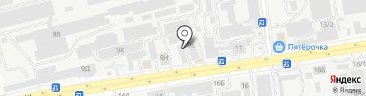 Сайдинг-Ставрополь на карте Ставрополя