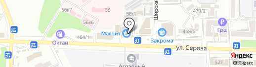 Симплекс на карте Ставрополя