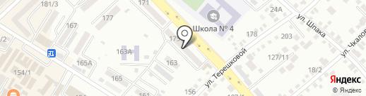 Ступени роста на карте Михайловска