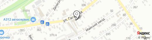 Автостоянка на ул. Гагарина на карте Михайловска