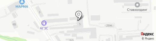 Арбен-Мебель на карте Ставрополя