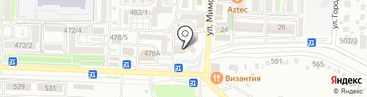 Циркуль на карте Ставрополя
