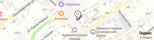 Цветник на карте Михайловска