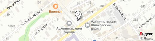 Детская библиотека на карте Михайловска