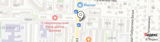 Мясной магазин на карте Ставрополя