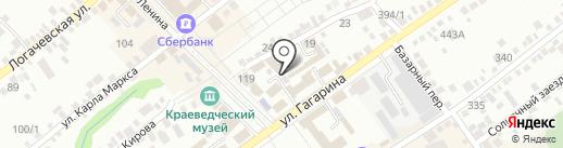 Шпаковский гипрозем на карте Михайловска