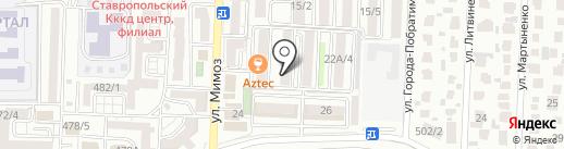 Катюша на карте Ставрополя