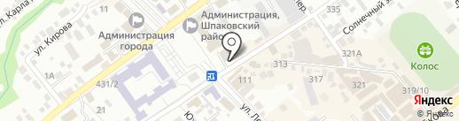 Столото на карте Михайловска
