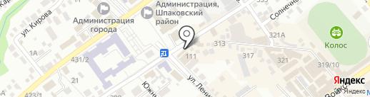 Магазин овощей и фруктов на карте Михайловска