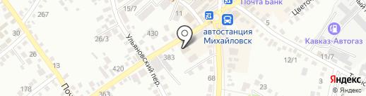 Счастливый случай на карте Михайловска
