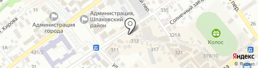 Рубин на карте Михайловска