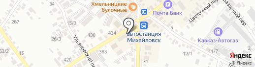 Кокетка на карте Михайловска