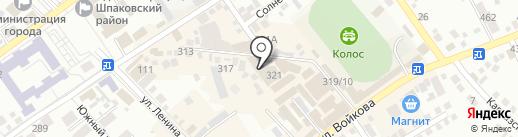 Меркурий на карте Михайловска
