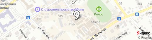 ЕРМОЛИНО на карте Михайловска
