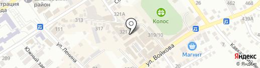 Магазин круп на карте Михайловска