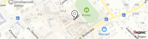 Бурлеск на карте Михайловска