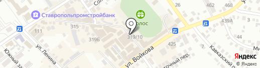 Малютка на карте Михайловска