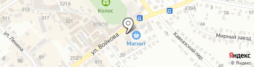 Киоск по ремонту обуви на карте Михайловска