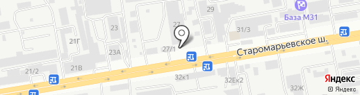 Шиномонтажная мастерская для грузовых автомобилей на карте Ставрополя