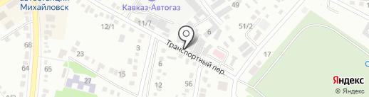 Бор на карте Михайловска