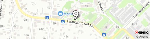 Почтовое отделение №1 на карте Михайловска