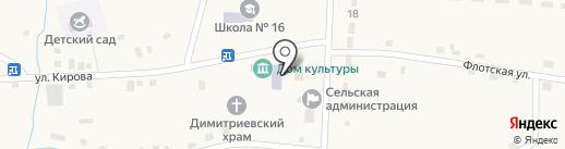 Библиотека, Культурно-спортивный комплекс на карте Дубовки