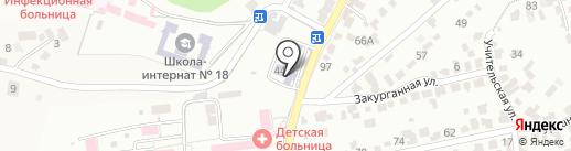 Средняя общеобразовательная школа №12 на карте Кисловодска