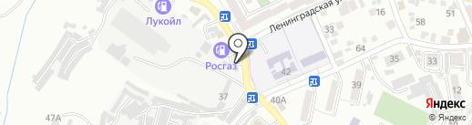 Кольцо на карте Кисловодска