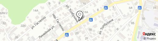 Дельта-КМВ на карте Кисловодска