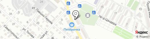 Вет на карте Кисловодска