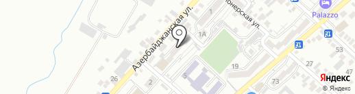 Продовольственный магазин на карте Кисловодска