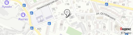 Вездеход на карте Кисловодска